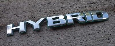 Honda Civic Hybrid Trunk - Honda Hybrid trunk emblem badge decal logo Civic Accord chrome green OEM Genuine