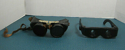 Old Antique Welding Goggles and Binocular Glasses - Steampunk