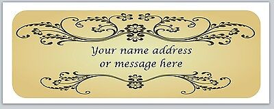 30 Personalized Vintage Return Address Labels Buy 3 get 1 free (bo 996)