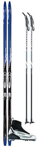 Fischer Country Wax cross country ski package with boots & poles