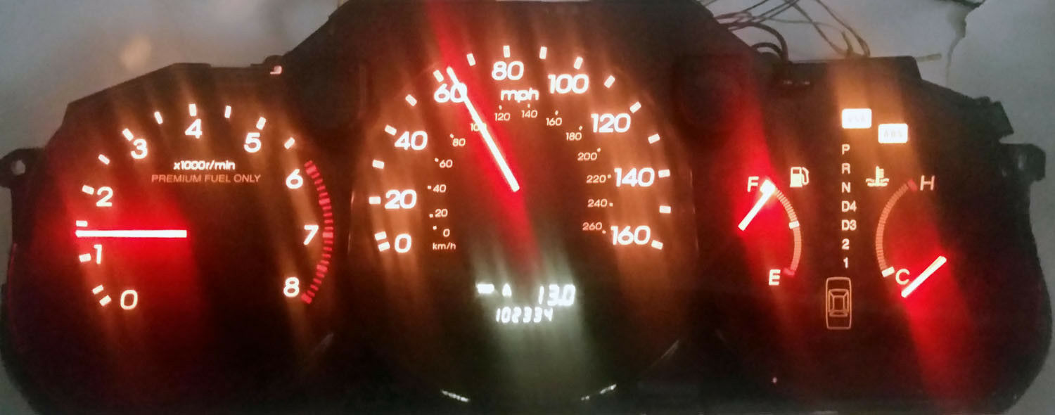 ACURA 3.5 RL 96 97 98 99 2000 2001 2002 CLUSTER SOFTWARW & ODOMETER CALIBRATION