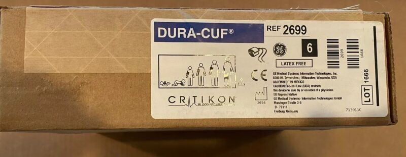 Critikon DURA-CUFF Assortment Pack REF 2699 NEW IN BOX