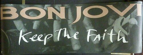 RARE BON JOVI KEEP THE FAITH 1992 VINTAGE MUSIC STORE 2 SIDED PROMO POSTER