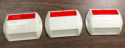 Lot Of 3 - Stimsonite Reflective Road Highway Pavement Marker White-red