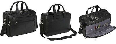 Samsonite Laptop Case Leather Messenger Briefcase Bag Checkpoint Friendly  ()