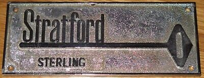 Vintage Safe Name Plate (Stratford Sterling) Lock