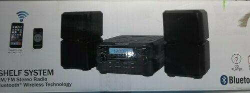 Magnavox Bluetooth CD Player Shelf Stereo Speaker System LCD AMFM AUX Remote