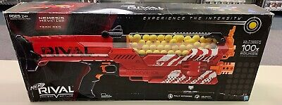 Hasbro Nerf Rival Nemesis MXVII-10K RED NEW Opened BOX Shoots Balls 100fps 30mph
