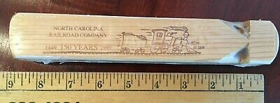Large wooden train whistle with 150 year Commemorative North Carolina RR theme. (Large Wooden Train Whistle)