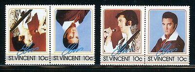 ST VINCENT Elvis Presley ERROR: Scott #874 10c INVERTED CENTER $$$