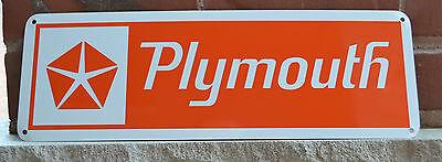 Plymouth Chrysler Orange SIGN Hemi Dodge Mopar Charger Mechanic Garage AD 10day