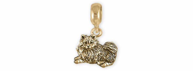 Keeshond Jewelry 14k Gold Handmade Keeshond Charm Slide This Charm Will Fit A Pa