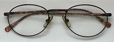 Vintage Gucci Eyeglasses Frames Metal Eye Wear 135 Brown Unisex Mens Womens Case