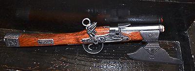 Denix 17th Century German Flintlock Pistol Axe Non-Firing Gray Finish