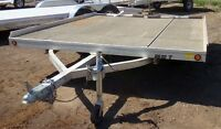 2013 Aluma Ltd. 8610T Flatdeck Snowmobile Trailer
