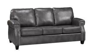 CHOCOLATE BROWN TUFTED LEATHER SOFA | LEATHER SOFA SALE TORONTO (BD-416)