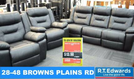Morgan black Lounge With Recliners
