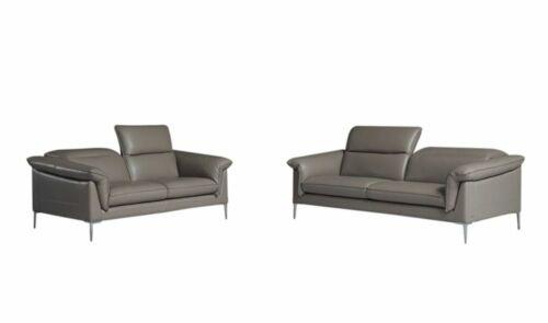 Eden Modern Living Room Set in Grey, 2-Piece