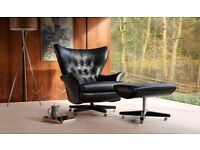 Vintage The 62 G Plan, Chesterfield Leather Armchairs x2