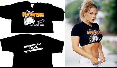 XXL Hooters uniform Crop Top Shirt Biker lingerie - Biker Halloween Kostüme