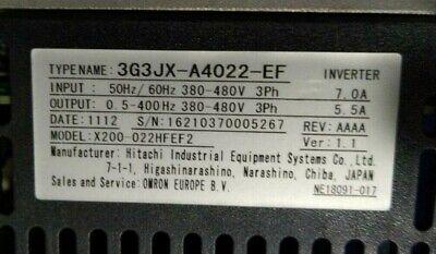 Omron Hitachi X200-22hfef2 Vfd 2.2kw Frequency Converter Inverter