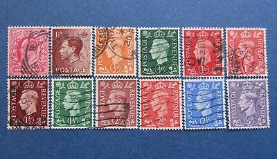 LOT  OF  12  USED  STAMPS  GREAT  BRITAIN