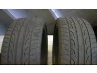 2 x Dunlop SP Sport maxx tyres 255 30 20 jaguar bmw audi mercedes 255/30/20