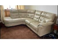 Used Leather Style L Shape Sofa