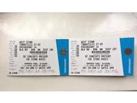 2 seated stone roses tickets for hampden.