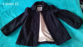 Girls clothes: selection of girls coats age 5-6 for sale
