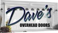 Dave's Overhead Doors - professional installation and repairs