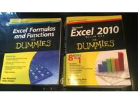 EXCEL for Dummies & EXCEL Formulas & Functions Books