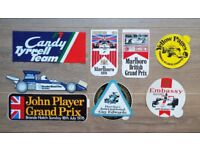 Collection of Grand Prix , Silverstone Stickers etc, rare Job Lot of 9 for racing enthusiast!