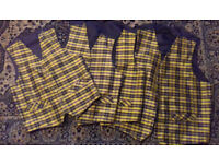 Mens Cornish National tartan waistcoats, ex hire, all good condition, various sizes available