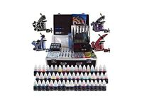 Complete Tattoo Kit with 4 guns and 54 inks plus needles, grips etc