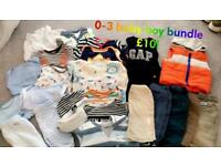 Baby boy clothes bundle (age 0-3 months)