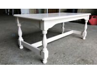 Shabby Chic Coffee Table, Interior Design, Home and Garden, Wood Framed Sturdy Table 105x56x45