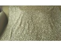 Green leaf patterned Designer Remnant Fabric for Curtains / upholstery/ upcycling/ sewing/ crafts