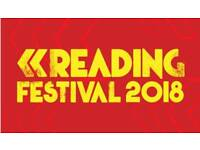 2x Reading festival weekend camping tickets