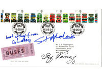 Buses Stamp Cover SIGNED by Butler and Blakey