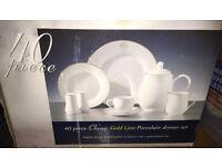 38 Piece Classic Gold Line Porcelain Dinner Set