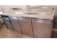 Fosters Commercial Eco Pro G2, 3 door salad fridge.