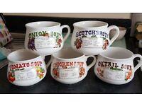 Soup mugs retro