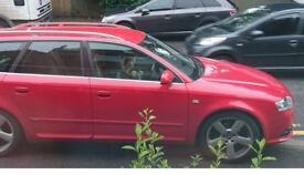 Audi A4 A-line estate 2005 red, cream leather interior. Running but has the oil light on. No Mot