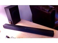 Bush Sound Bar & Sub Woofer with all Cables and Power Pack