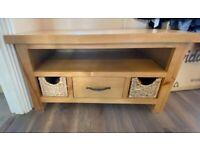 Solid Light Oak TV Cabinet