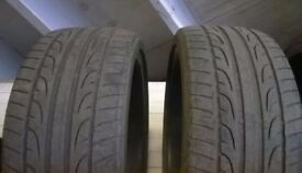 2 x Dunlop SP Sport maxx tyres 255 30 20 jaguar bmw audi 255/30/20