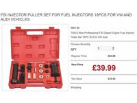 FSI INJECTOR PULLER SET FOR FUEL INJECTORS 18PCS FOR VW AND AUDI VEHICLES