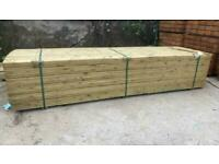 Pressure Treated Wooden Decking Boards