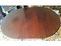 Dark Solid Wood Dining Room Table. Extending Round or Oval. Millwood Cabinet Making